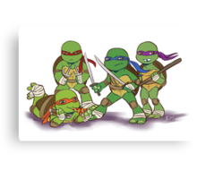 Little Mutant Ninja Turtles Canvas Print