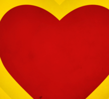 Red and yellow hearts Sticker
