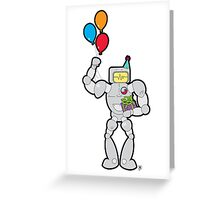 RadRobot Birthday Greeting Card