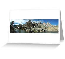 Minaret Mountian Range Greeting Card