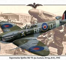 Supermarine Spitfire Mk Vb - Jan Zumbach by A. Hermann
