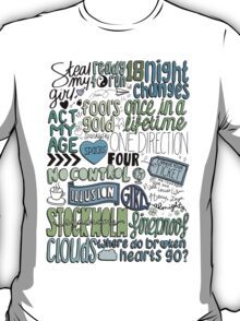 four collage COLORED T-Shirt