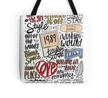 taylor swift collage COLORED Tote Bag