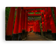 Path at Fushimi-Inari Canvas Print