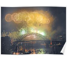 The Emerald City - New Years Eve  , Sydney Harbour    Poster