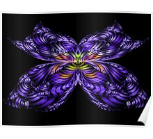 Purple Butterfly Poster