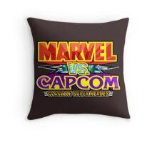 Marvel vs Capcom (Arcade) Title Screen Throw Pillow