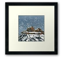 Snow On Edinburgh Castle Framed Print