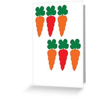 six Carrots cute! Greeting Card