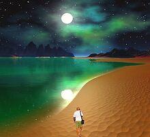 Midnight Beach Walk - Sea of Cortezz by AlienVisitor