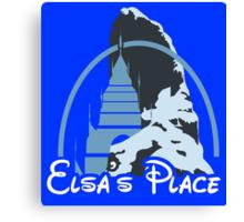Elsa's place - Disney castle Canvas Print