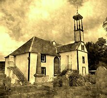 Dalserf Kirk , an aged look  by Bill Lighterness