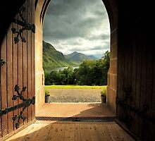 Through the arched door by Grant Glendinning