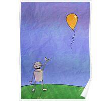 Sad Robot - The Balloon Poster