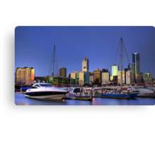 Melbourne from Victoria Harbour Canvas Print