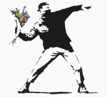 Banksy - Flower Thrower Kids Clothes