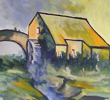 The old watermill by sword
