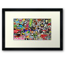 Sticker Bomb Collaboration Framed Print