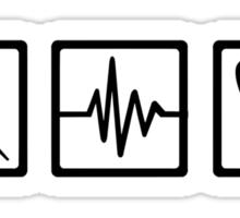 Medical equipment stethoscope syringe Sticker