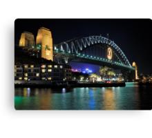 Sydney Harbour Bridge @ Night  6 - 1 - 2008 Canvas Print