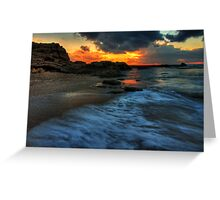 ceaserea sunset Greeting Card
