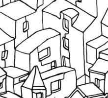 Endless One Line City Sticker