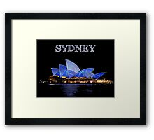 Sydney Opera House - White ink Framed Print
