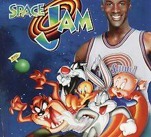 Space Jam Movie Poster by eddytheking
