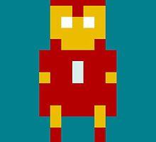 8-Bit Iron Man by kindigo