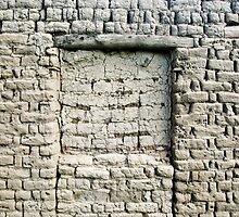 Mud Covered Brick Wall by Syman  Kaye