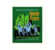 The Haunted Pizzeria Art Print