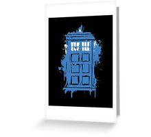 Painted in Blue and White Greeting Card