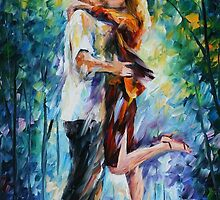 Rainy Kiss — Buy Now Link - www.etsy.com/listing/213594558 by Leonid  Afremov