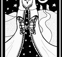 The Moon (card form) by sealskinstudios