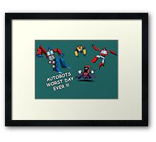 AUTOBOTS WORST DAY EVER !!! Framed Print