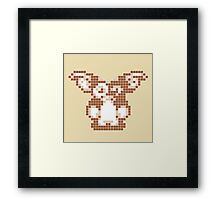 "Gremlins ""Don't Feed After Midnight."" Gizmo Movie 8-bit Framed Print"