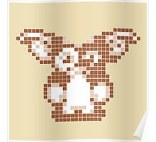 """Gremlins """"Don't Feed After Midnight."""" Gizmo Movie 8-bit Poster"""