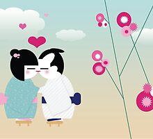 Kiss Kiss by littlegirllost