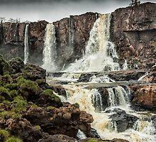 Iguaza Falls - below the falls - monochrome by photograham