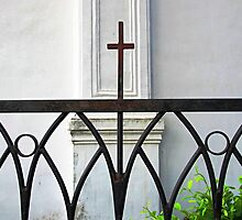 Church Fence  by Ethna Gillespie