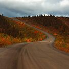 Autumnal Top of the World Highway by zumi