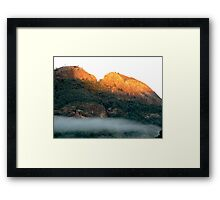 Early morning fog in the Warrumbungle National Park NSW Framed Print