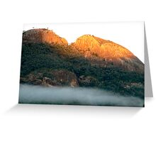 Early morning fog in the Warrumbungle National Park NSW Greeting Card
