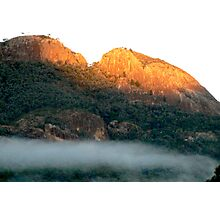 Early morning fog in the Warrumbungle National Park NSW Photographic Print