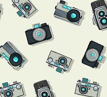 Vintage camera pattern by Richard Laschon