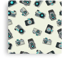 Vintage camera pattern Canvas Print