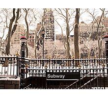 Subway Snow Photographic Print