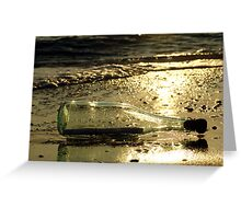 message in a bottle - 3 Greeting Card