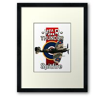 War Thunder Spitfire Framed Print