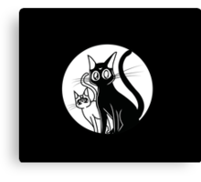 Luna and Artemis Canvas Print